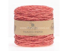 Papírová příze Twisted Paper 515 tmavě růžová