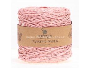 Papírová příze Twisted Paper 526 jemná růžová