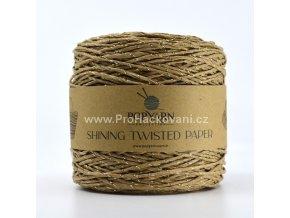 Papírová příze Twisted Paper 512 skořicová se zlatou