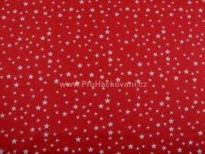 bavlnena latka s hvezdickami cervena