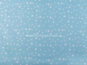 bavlnena latka s hvezdickami svetle modra