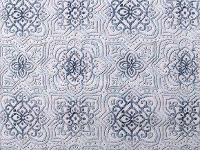 Dekoracni latka ornamenty modra