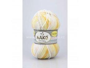 příze Elit Baby mini batik 32462 bílá žlutá