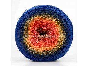 příze Flowers 258 béžová, oranžová, žlutá, šedá, modrá