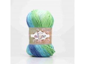 příze Bella Batik 7649 zelená, tyrkysová, modrá