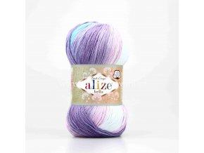 příze Bella Batik 3677 fialová, růžová, tyrkysová