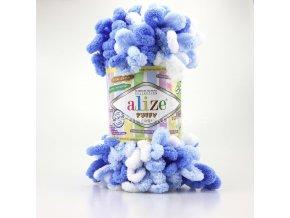 Příze Puffy color 6371 variace modré