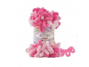 příze Puffy color 6383 variace růžové