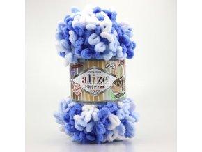 Puffy fine color 6371 variace modré