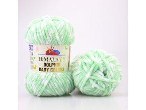 Příze Dolphin Baby Colors 80431 pastelově zelená s bílou