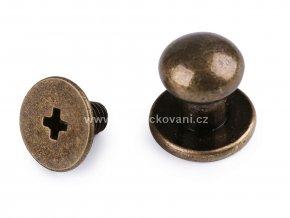 Nýt sedlářský šroubovací staromosaz Ø 7 mm
