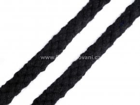 Oděvní bavlněná šňůra Ø10 -12 mm černá
