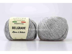 Příze Belgrade 6005 šedý melír