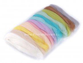 Ovčí rouno 50 g - pastelové barvy