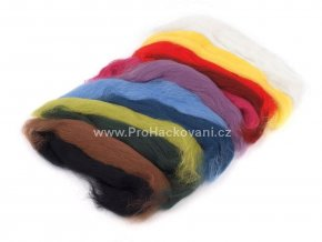 Ovčí rouno 50 g - základní barvy