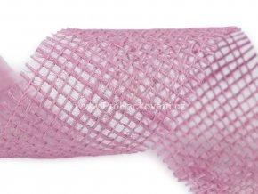 Jutová stuha 3 m šíře 55 mm růžovofialová