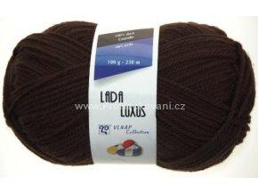 příze Lada Luxus 51191 tmavě hnědá
