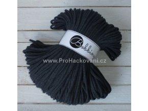 Bobbiny šňůry, 100% bavlna - antracitové (Charcoal)