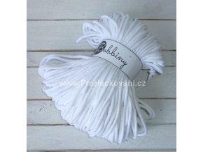 Bobbiny šňůry, 100% bavlna - bílé