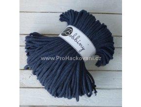 Bobbiny šňůry, 100% bavlna - jeans