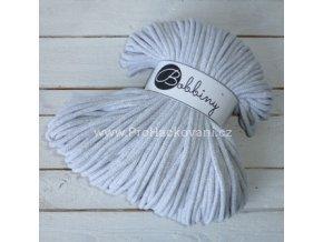 Bobbiny šňůry, 100% bavlna - světle šedé