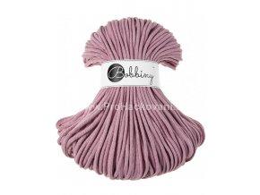 Bobbiny šňůry, 100% bavlna - starorůžové