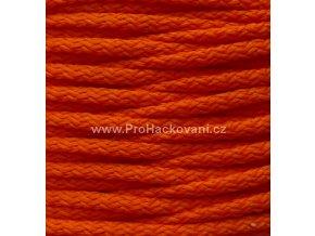 Šňůry PES 08 tmavší oranžové