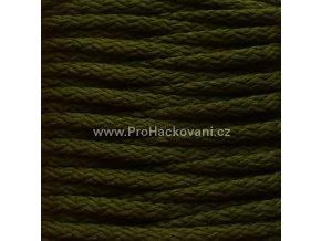Šňůry PES 39 khaki zelené
