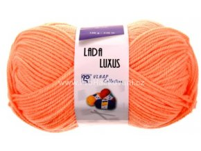 příze Lada Luxus 53101 světle oranžová