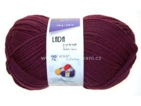 příze Lada Luxus 53356 fialově vínová