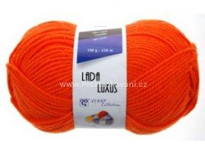 příze Lada Luxus 53109 výrazná oranžová