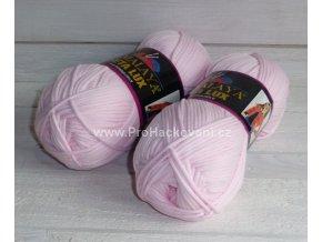 příze Seta Lux 20526 pastelově růžová