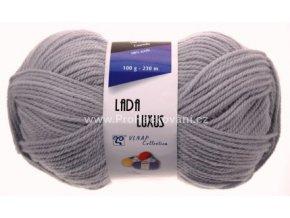 příze Lada Luxus_56177 světle šedá