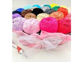 Příze Camilla_8048 fialovorůžová