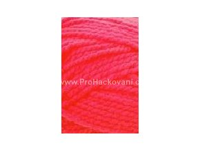 příze Lada Luxus_50013 neon červená