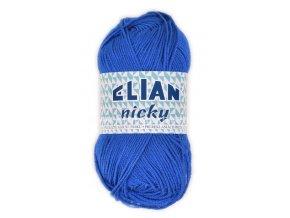 příze Elian Nicky 133 středně modrá