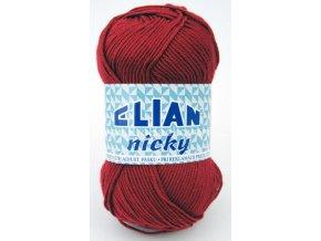 příze Elian Nicky 174 vínová