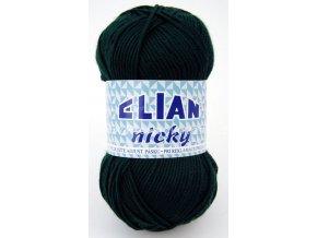 příze Elian Nicky 204 tmavě zelená