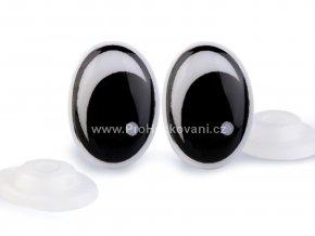 Oči plastové, černé 11x15mm