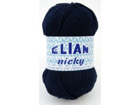 příze Elian Nicky 209 tmavě modrá