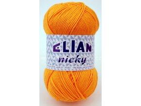 příze Elian Nicky 1014 oranžově žlutá