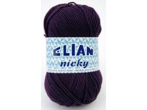 příze Elian Nicky 1088 tmavě fialová