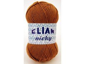 příze Elian Nicky 2174 rezavě hnědá