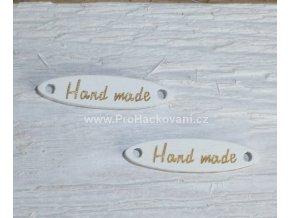 Hand made, elipsa bílý