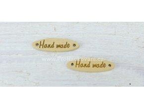 Hand made elipsa přírodní