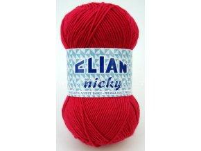 příze Elian Nicky 3594 tmavě červená