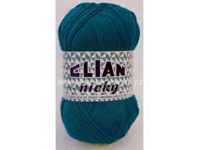 příze Elian Nicky 3812 modrý petrol