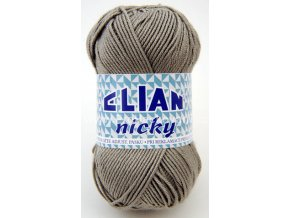 příze Elian Nicky 4198 šedá