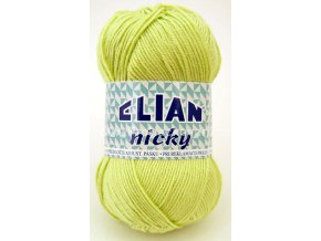 příze Elian Nicky 4853 žlutozelená