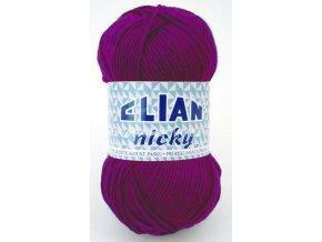 příze Elian Nicky 4967 fialová fuchsie
